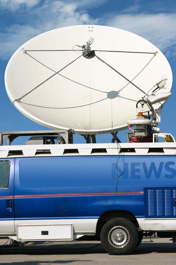 De Vrachtwagen Van Het Nieuws Stock Foto's