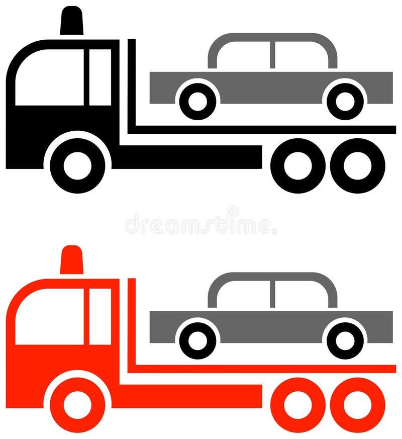 De vrachtwagen van het slepen stock illustratie