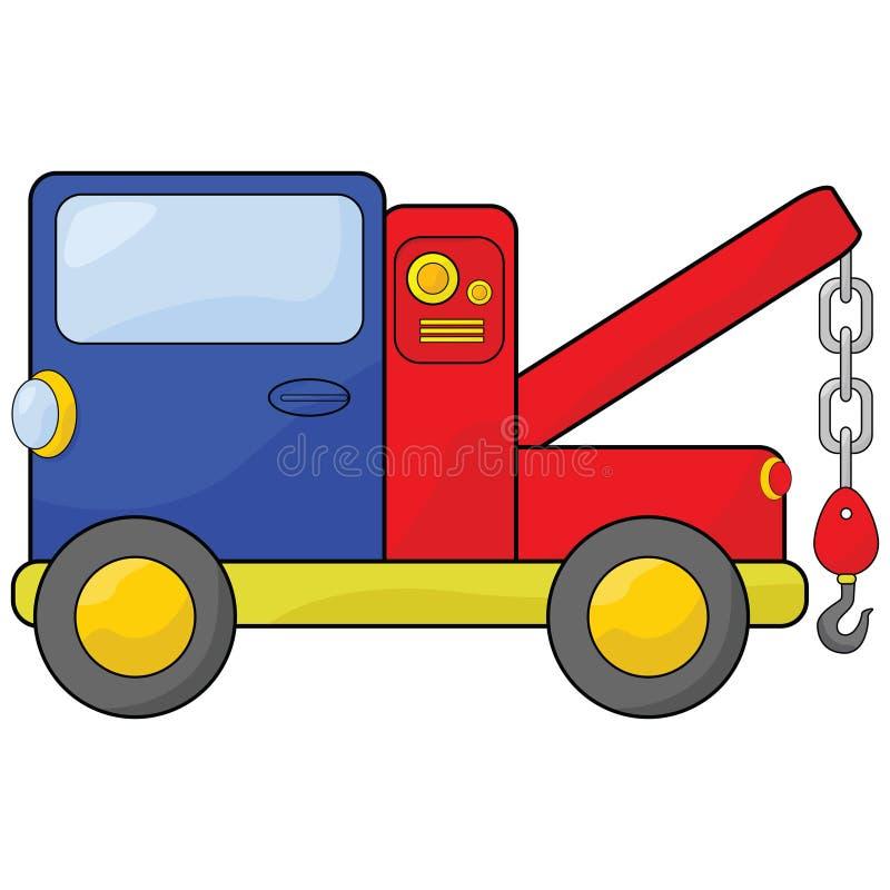 De vrachtwagen van het slepen vector illustratie
