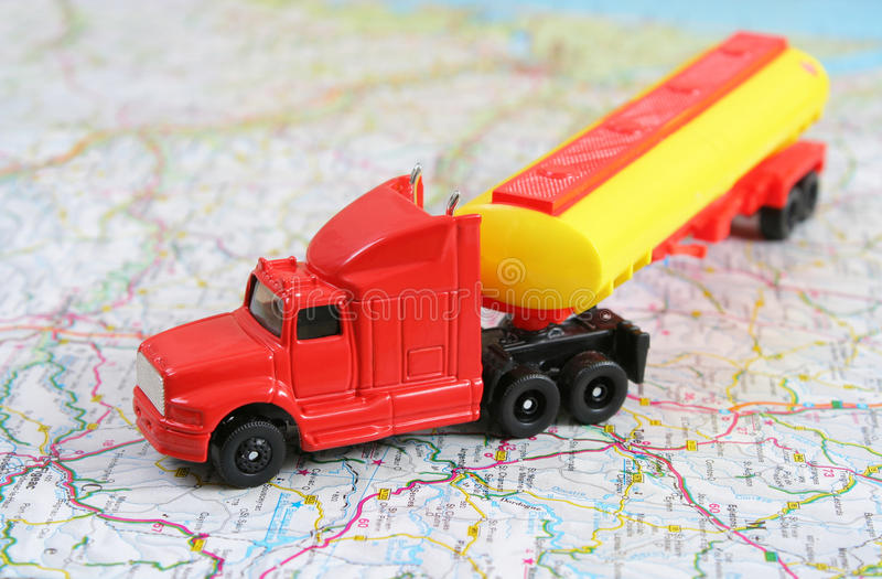 De vrachtwagen van het stuk speelgoed royalty-vrije stock fotografie