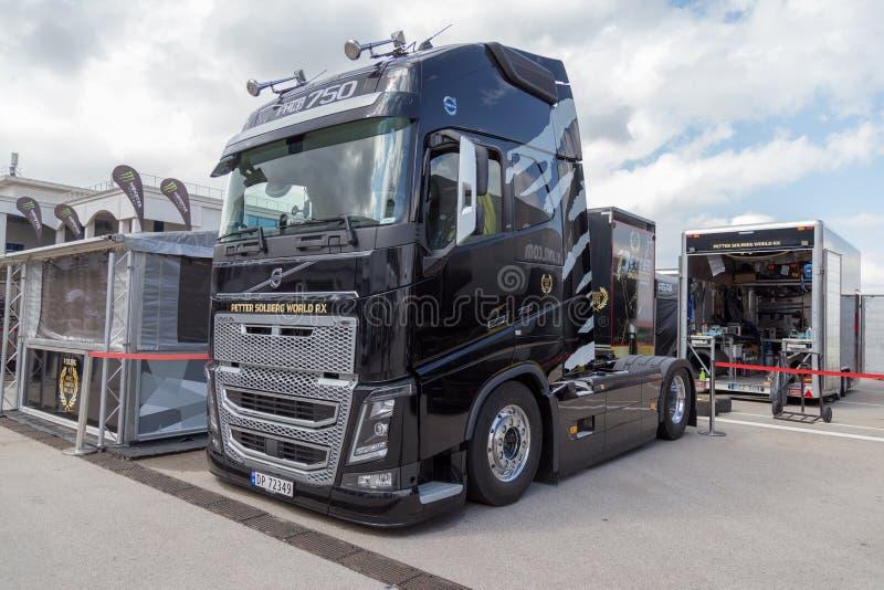 De vrachtwagen van Volvo stock foto's