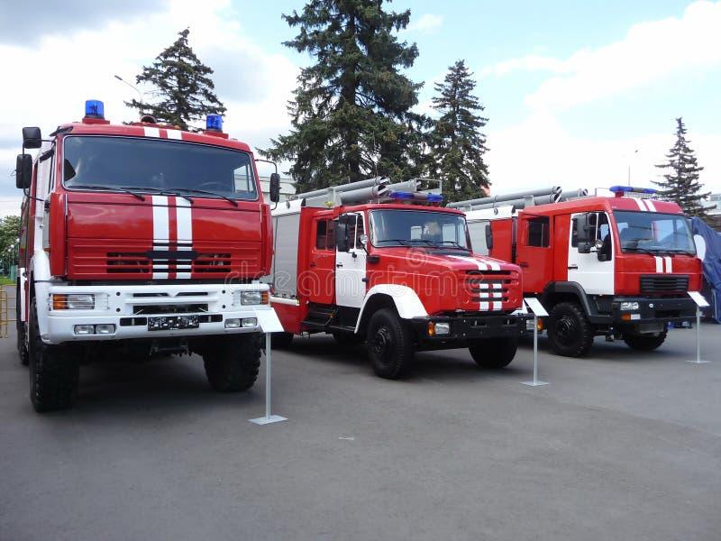 De vrachtwagens van de brand royalty-vrije stock foto's