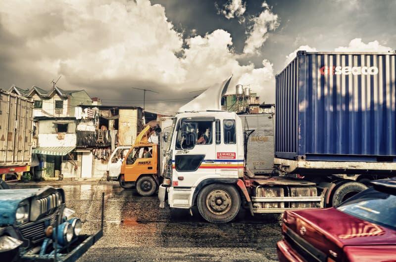 De Vrachtwagens van de lading royalty-vrije stock foto