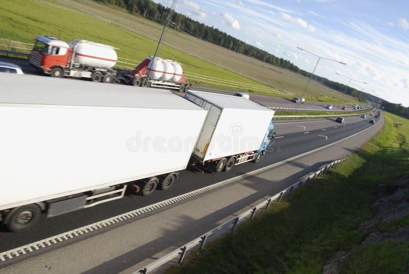 De vrachtwagens van de vergadering royalty-vrije stock afbeelding