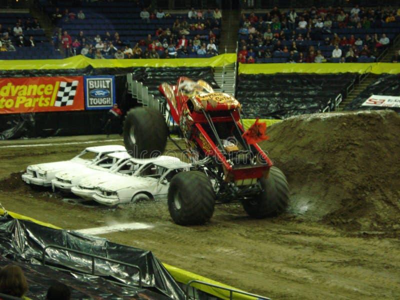 De Vrachtwagens van het monster stock foto