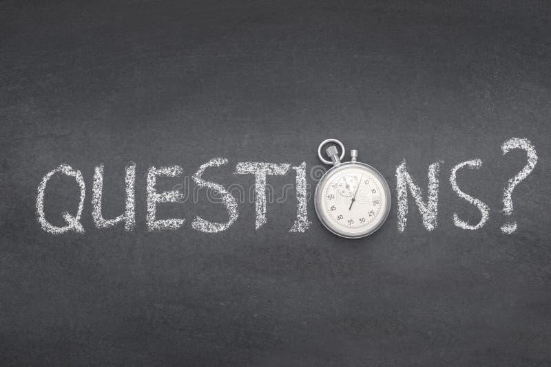 De vragen vragen horloge royalty-vrije stock fotografie