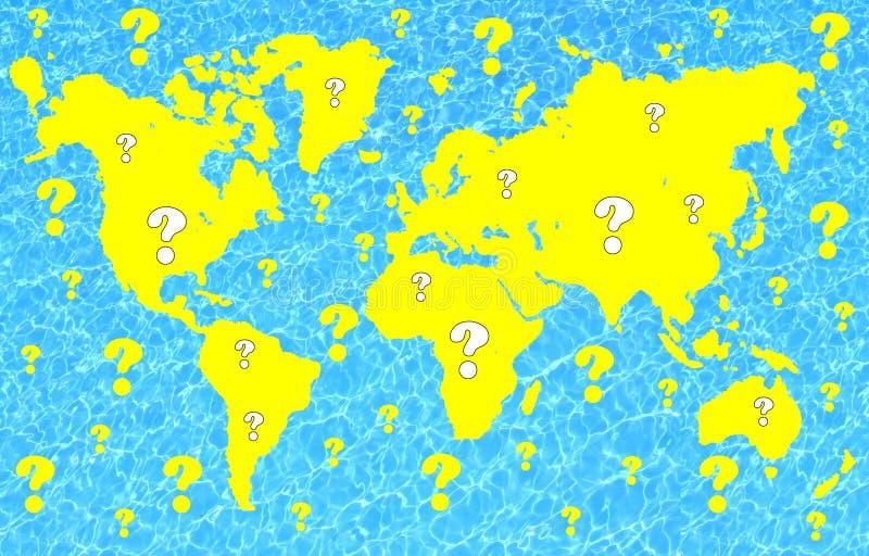 De vragen van de wereld royalty-vrije illustratie
