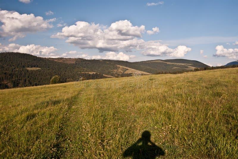 De vrchy bergen van Autumn Skorusinske in Slowakije royalty-vrije stock foto