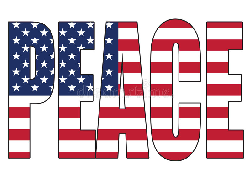 De Vrede van de Verenigde Staten van Amerika stock illustratie
