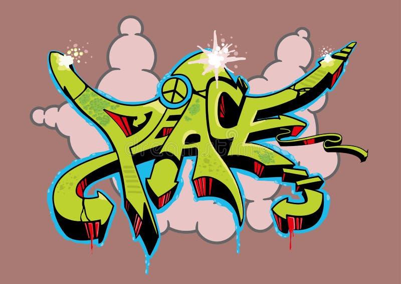 De Vrede van Graffiti stock illustratie