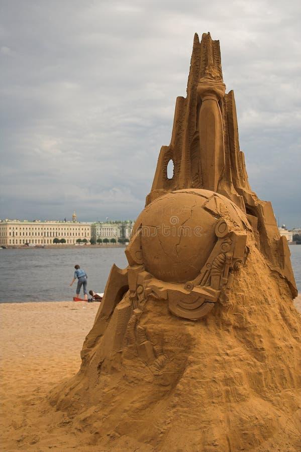De vrede van het zand royalty-vrije stock afbeelding