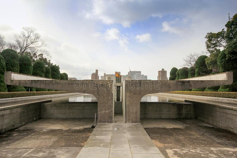 De vredes herdenkingspark van Hiroshima, Japan royalty-vrije stock afbeelding