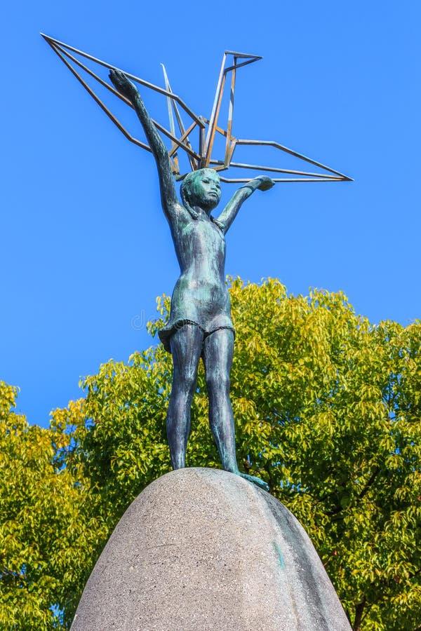 De Vredesmonument van kinderen in Hiroshima royalty-vrije stock afbeelding