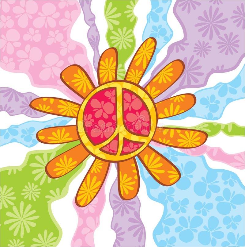 De vredessymbool van de hippie vector illustratie