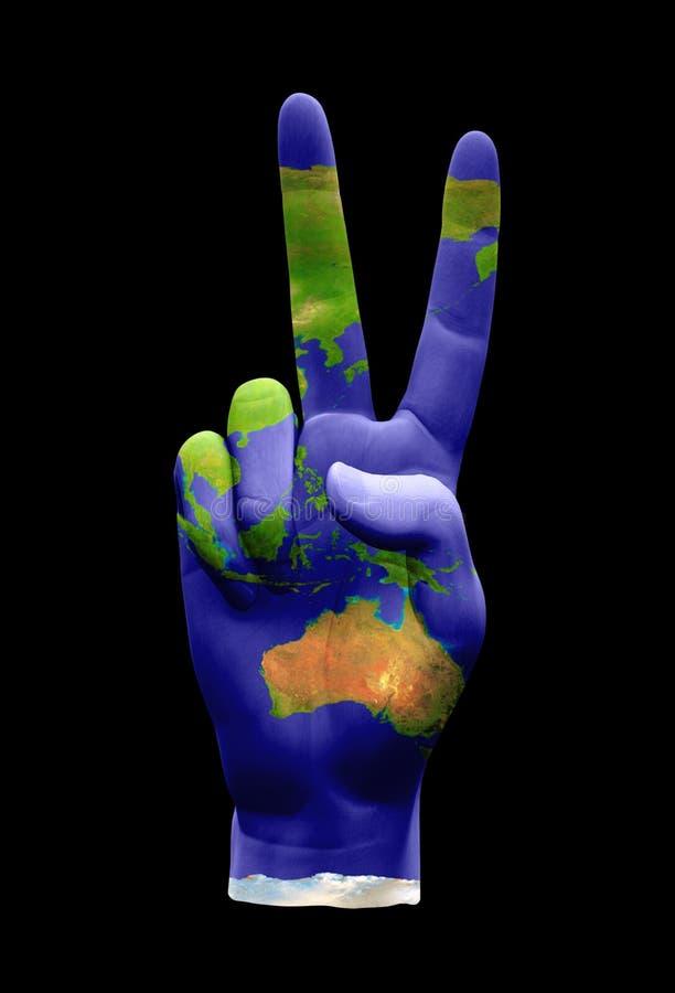 De Vredesteken van Australië Azië vector illustratie