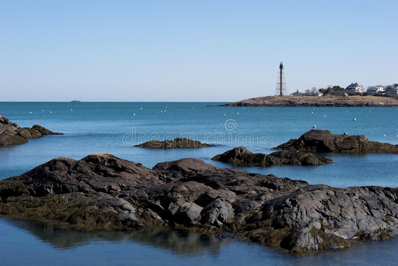De vreedzame haven van New England royalty-vrije stock afbeeldingen