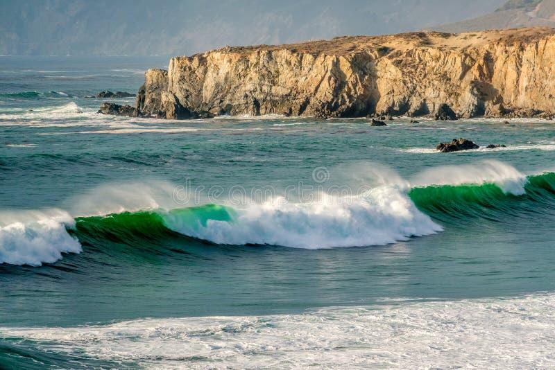 De Vreedzame kust van de V.S., het Strand van de Zanddollar, Grote Sur, Californië stock fotografie