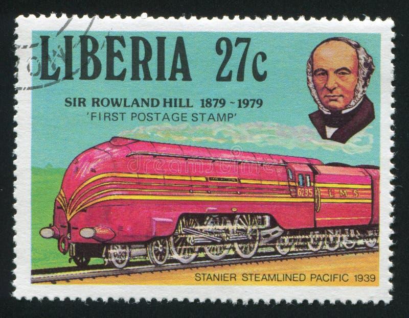 De vreedzame trein van Rowland Hill en van Stainer stock foto's