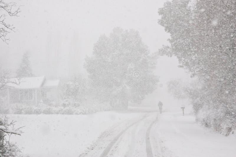 De vreedzame Winter van het Noordwesten Toneel stock foto's