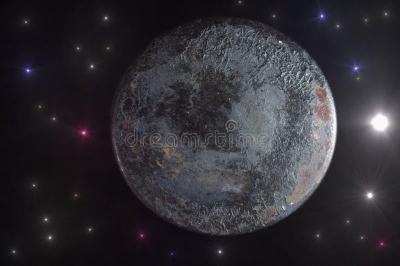 De vreemde planeet royalty-vrije illustratie