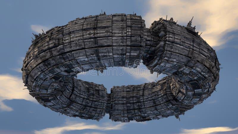 De vreemdeling van het ruimteschipufo royalty-vrije stock afbeelding