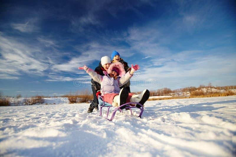 De vreugde van de winter stock afbeelding
