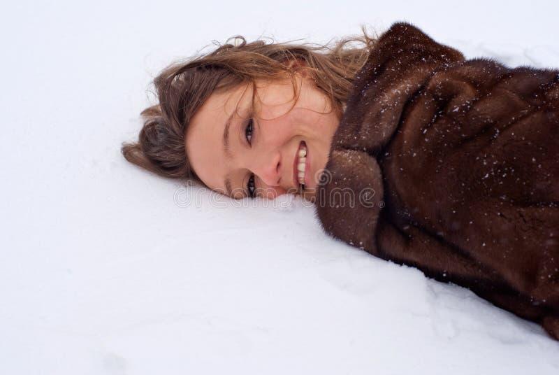 De vreugde van de winter. stock afbeeldingen
