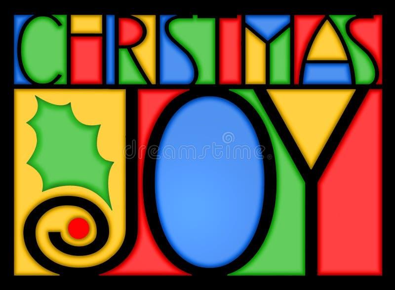 De Vreugde van Kerstmis royalty-vrije illustratie