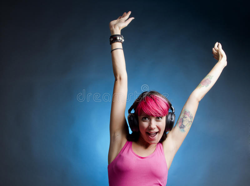 De vreugde van muziek royalty-vrije stock foto
