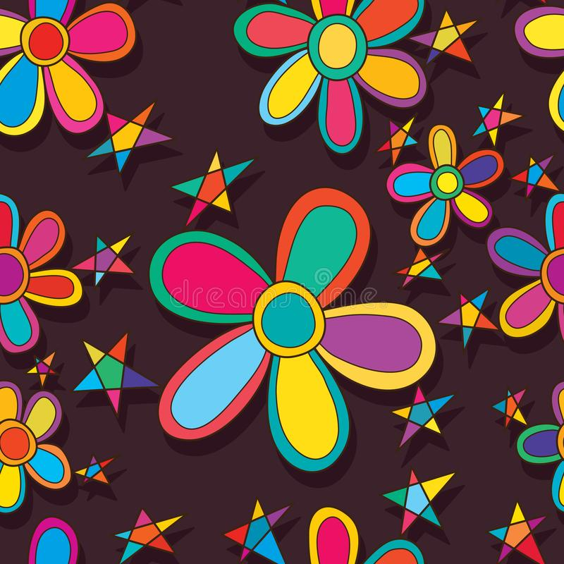 De vrienden naadloos patroon van de bloemster vector illustratie