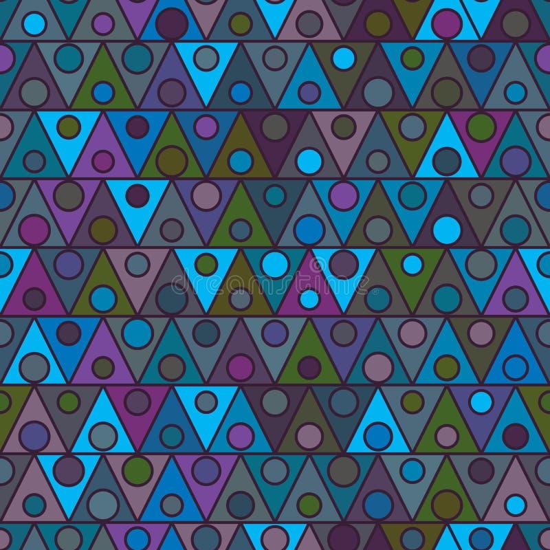 De vrienden naadloos patroon van de driehoekscirkel stock illustratie