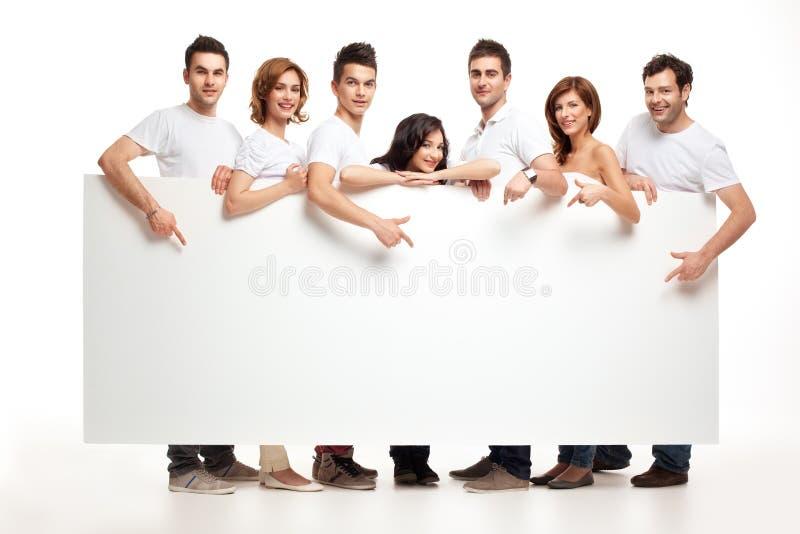 De vrienden van de advertentie royalty-vrije stock fotografie