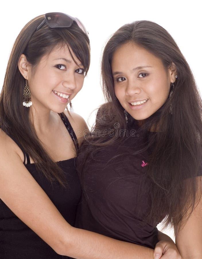 De Vrienden van de tiener stock afbeeldingen