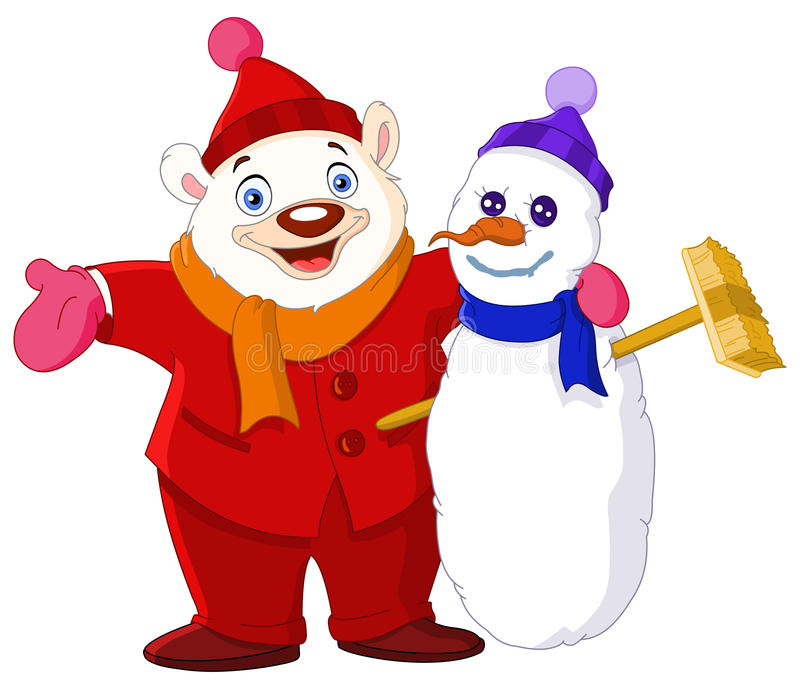 De vrienden van de winter stock illustratie