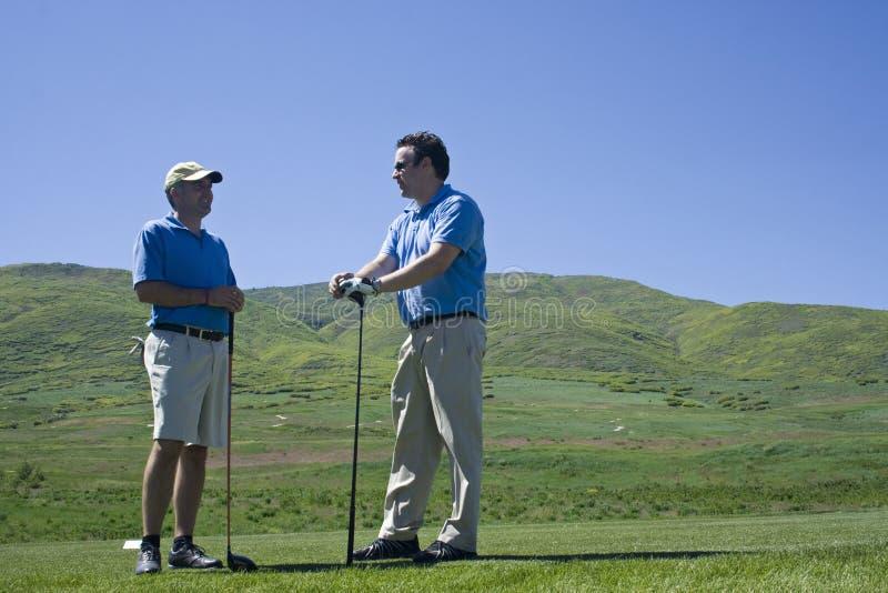 De Vrienden van Golfing royalty-vrije stock afbeeldingen