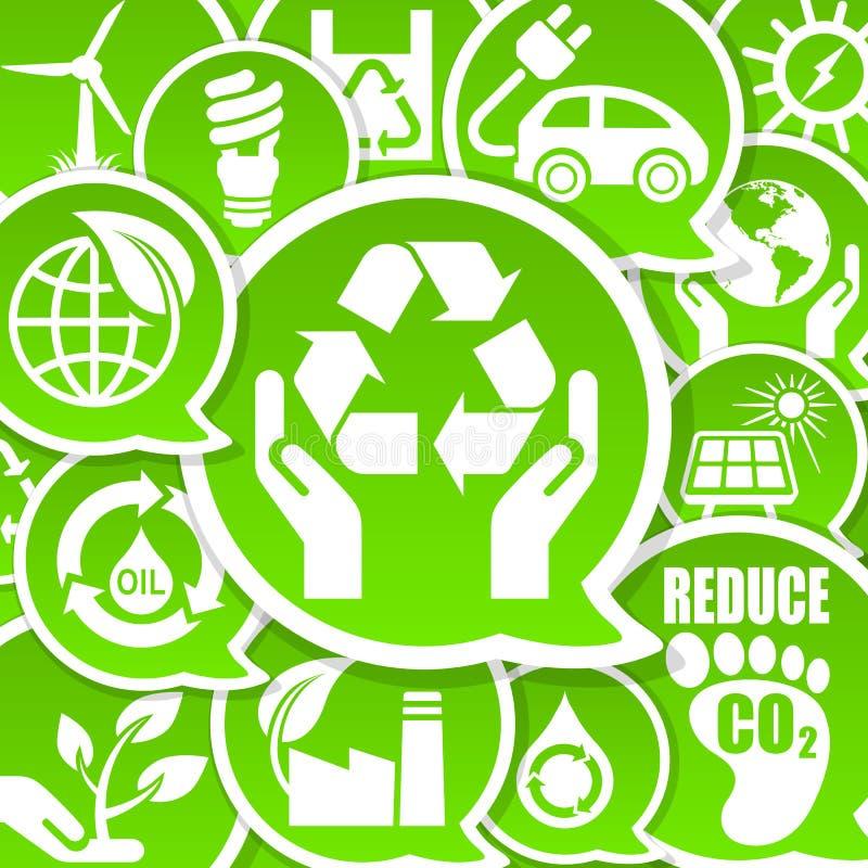 De vriendschappelijke achtergrond van Eco stock illustratie