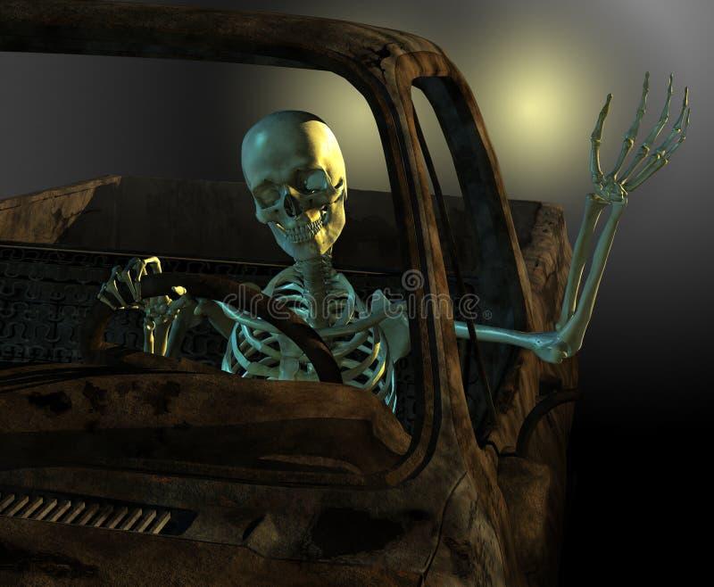 De vriendschappelijke Bestuurder van het Skelet vector illustratie