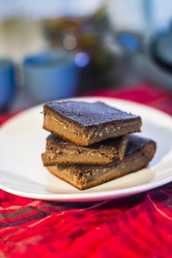 De vrije brownie van het gluten stock fotografie