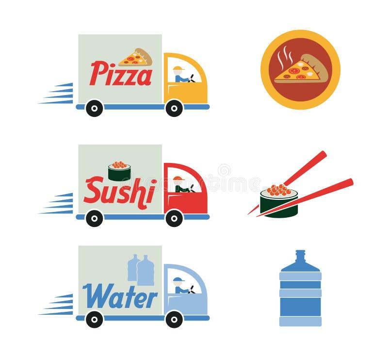 De vrije leveringsdienst royalty-vrije illustratie