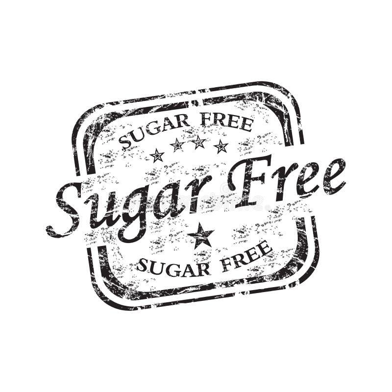 De vrije rubberzegel van de suiker royalty-vrije illustratie