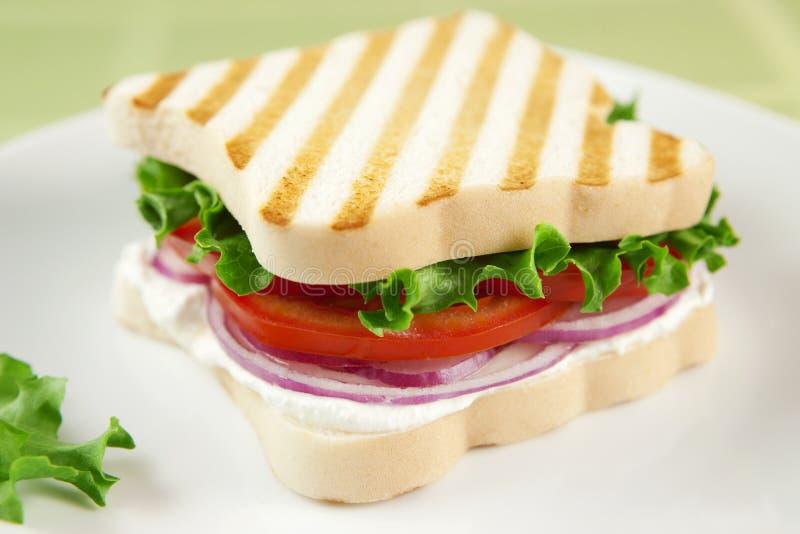De vrije vegetarische sandwich van het gluten royalty-vrije stock afbeeldingen