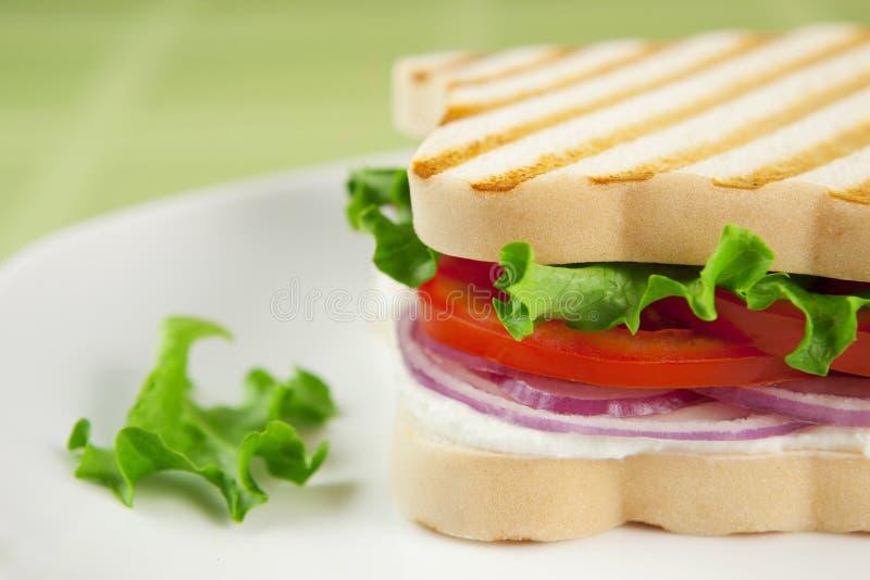 De vrije vegetarische sandwich van het gluten royalty-vrije stock foto's
