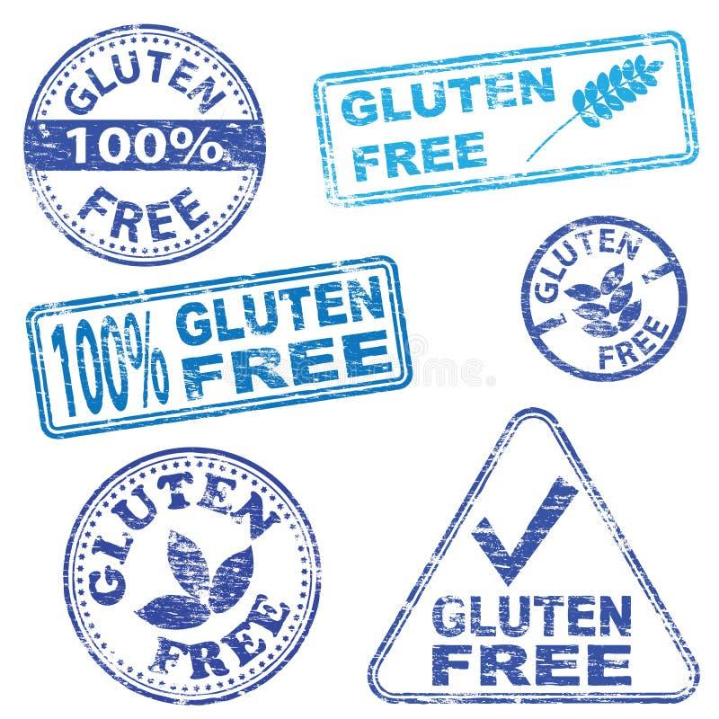 De Vrije Zegels van het gluten vector illustratie
