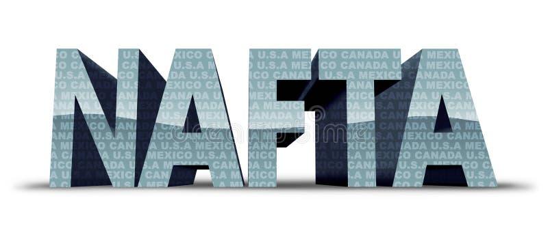 De Vrijhandel van Noord-Amerika royalty-vrije illustratie