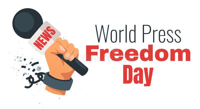 De vrijheidsdag van de wereldpers royalty-vrije illustratie