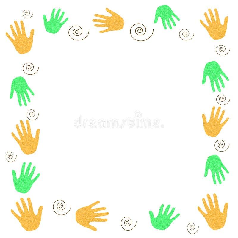 De vrijwilliger van handen vector illustratie