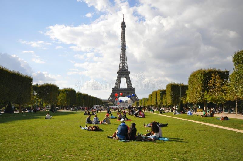 De vroege herfst in Parijs stock fotografie