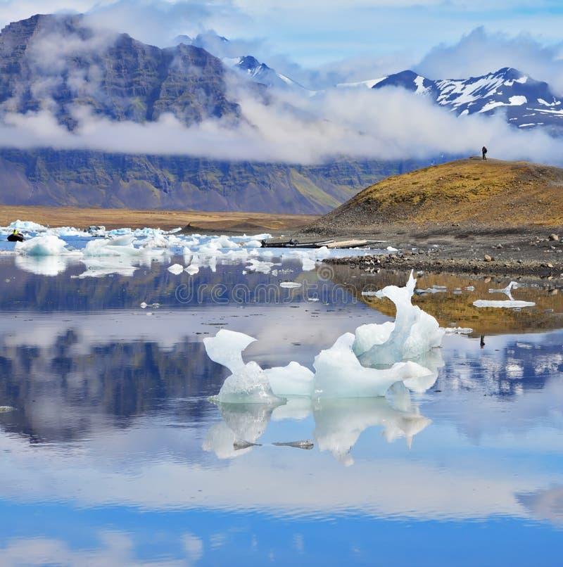 In de vroege Juli ochtend van IJsland royalty-vrije stock foto