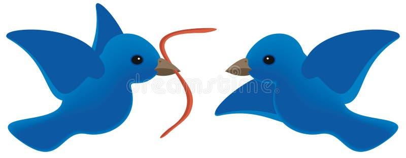 De vroege vogel krijgt worm stock illustratie