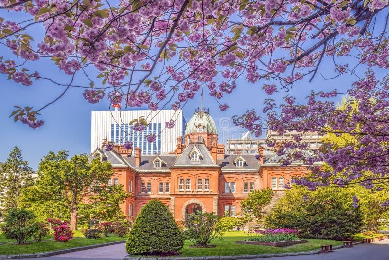De vroegere bouw van het de overheidsbureau van Hokkaido royalty-vrije stock afbeeldingen